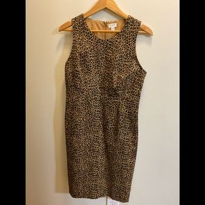 Jcrew leopard sheath dress. This season!